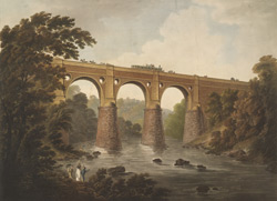 View of the Aqueduct at Marple in Cheshire